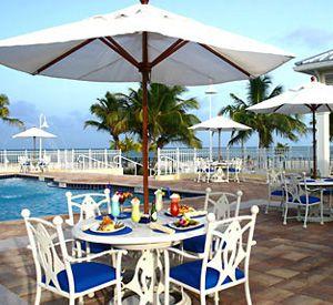 Blue Water Tiki Bar at Islander Oceanfront Resort in Islamorada Florida