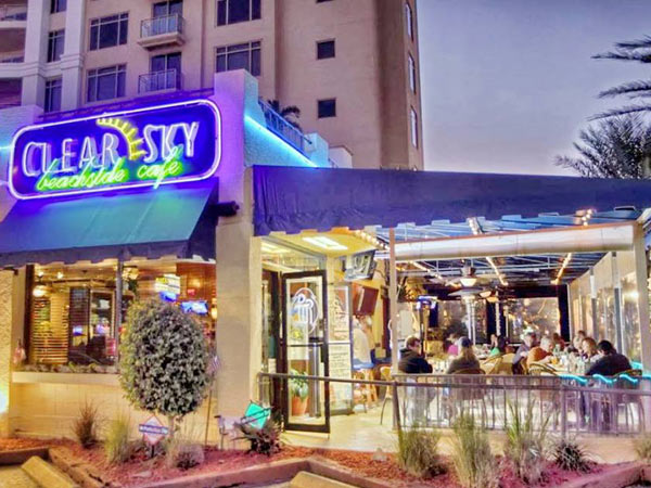 Clear Sky Beachside Cafe in Clearwater Beach Florida