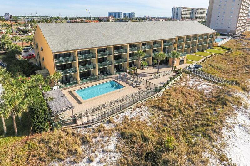 Pool view at Destin Beach Club in Destin FL