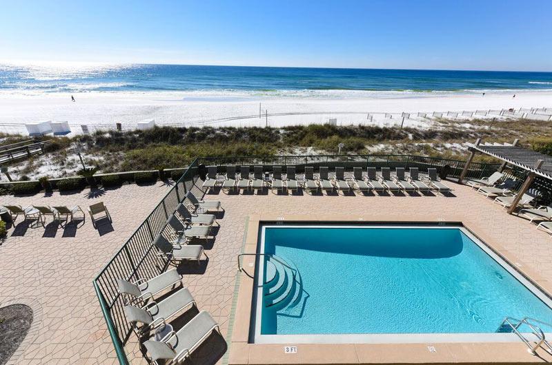 Beachfront pool at Destin Beach Club in Destin FL