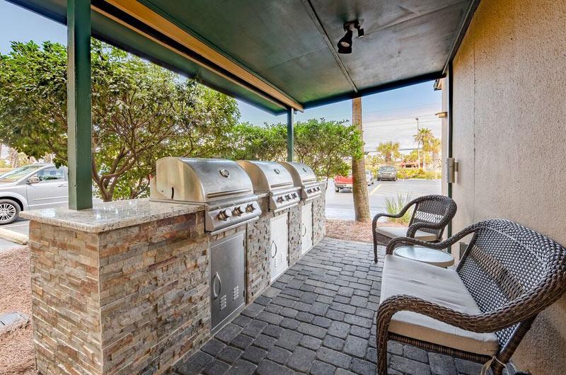Barbecue grills at Destin Beach Club in Destin FL