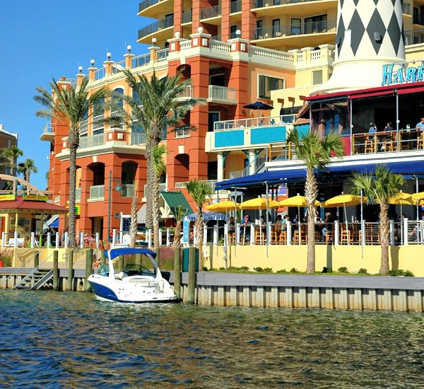 The boat docks on Destin Harbor at The Emerald Grande