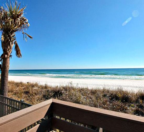 View from the balcony at Sterling Shores Condominiums  in Destin Florida