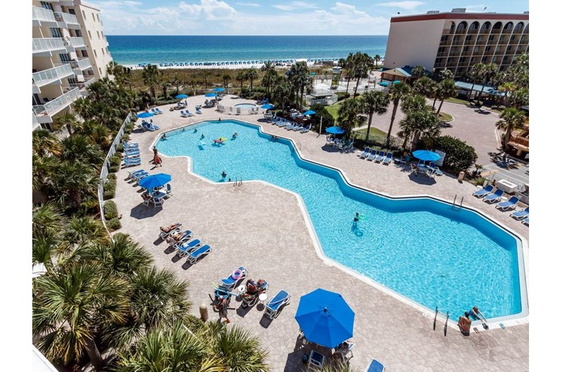 One of the pools at Destin West Beach & Bay Resort  in Fort Walton Florida