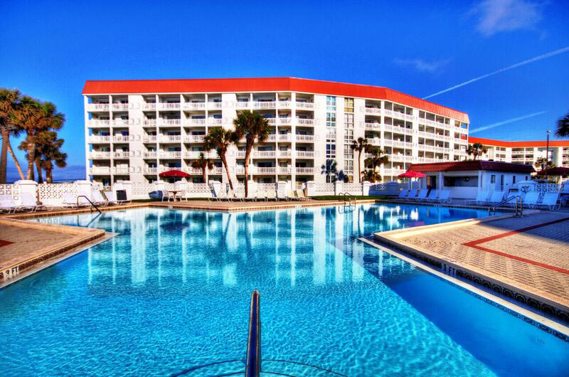 Beautiful swimming pool at El Matador Fort Walton Beach