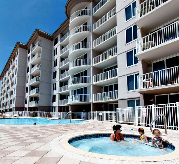 Sunbathers soak in the hot tub at Island Princess Fort Walton.