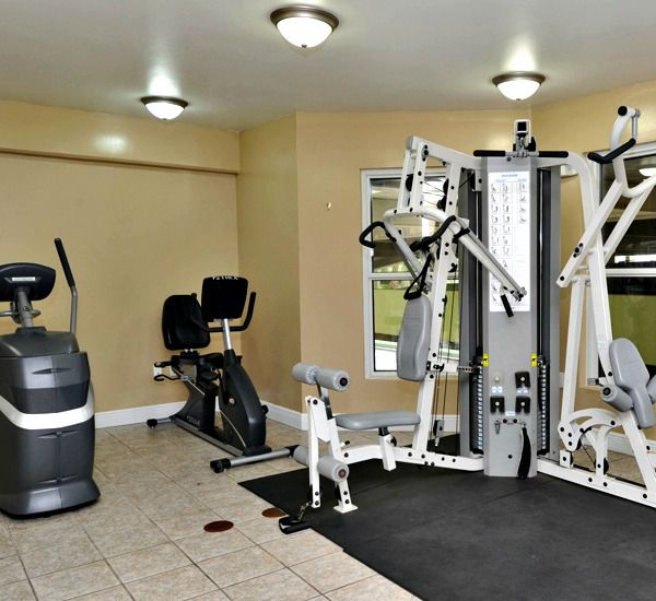 Fitness room at Waters Edge Condos