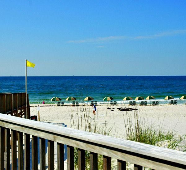 View of the beach at Beach Club Condominiums in Gulf Shores Alabama