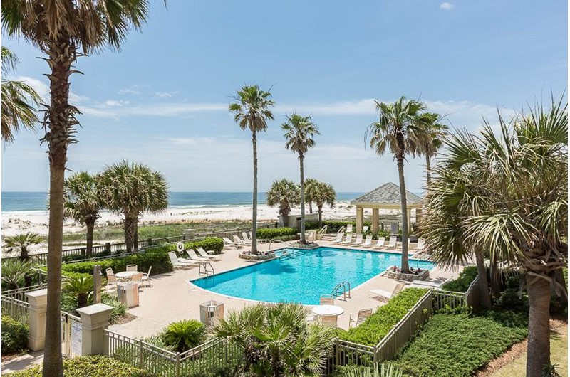Gorgeous grounds and pool at Beach Club in Gulf Shores Alabama