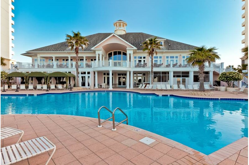 Pool area at Beach Club in Gulf Shores Alabama