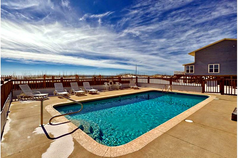 Beachfront pool at Blue Parrot in Gulf Shores AL
