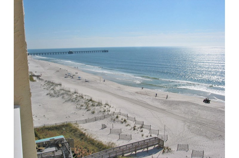 View of Gulf Shores fishing pier from Clearwater Condos