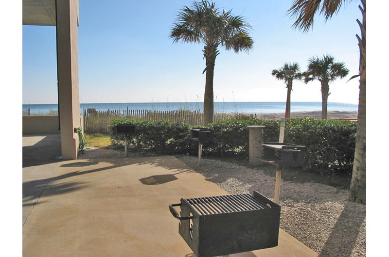 Barbecue grills at Crystal Shores West in Gulf Shores Alabama