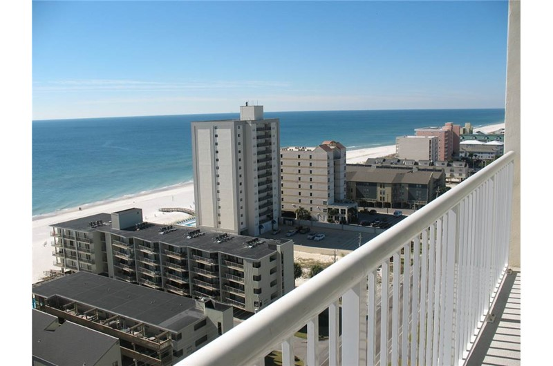Panoramic balcony view at Crystal Towers Gulf Shores