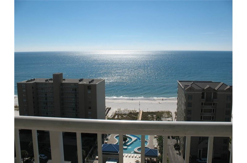 Gorgeous Gulf view from a private balcony at Crystal Towers Gulf Shores