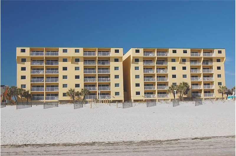 View from the Gulf at Driftwood Towers Gulf Shores