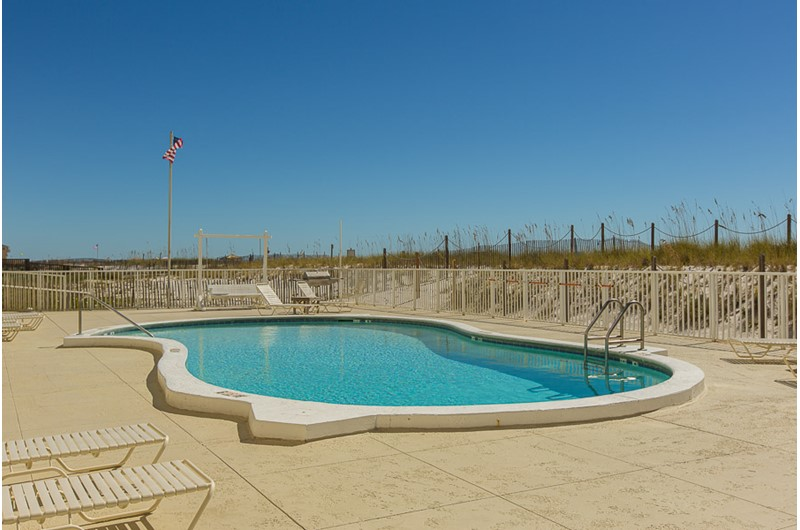 Pool right on the beach at Edgewater East in Gulf Shores AL