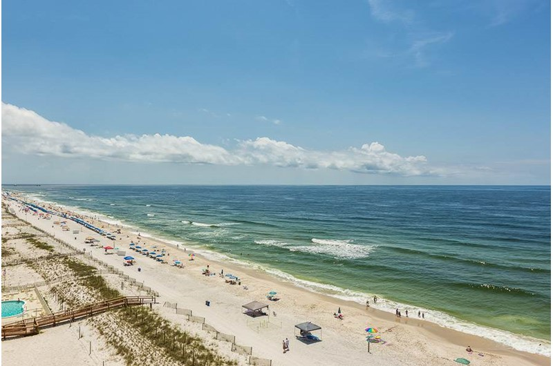 See huge view of the Gulf from Edgewater West in Gulf Shores Alabama