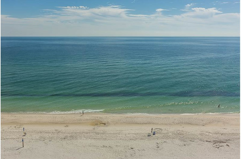 Look at the Gulf from Edgewater West in Gulf Shores Alabama