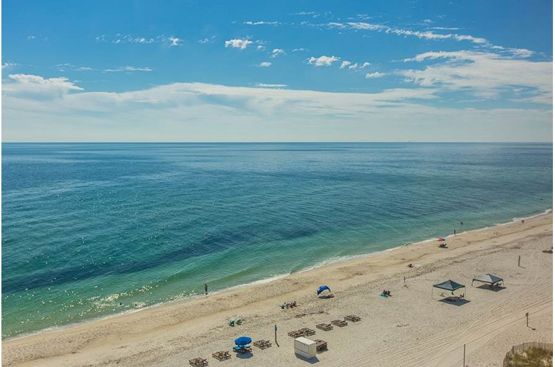 Have a view of the beach and Gulf at Edgewater West in Gulf Shores Alabama