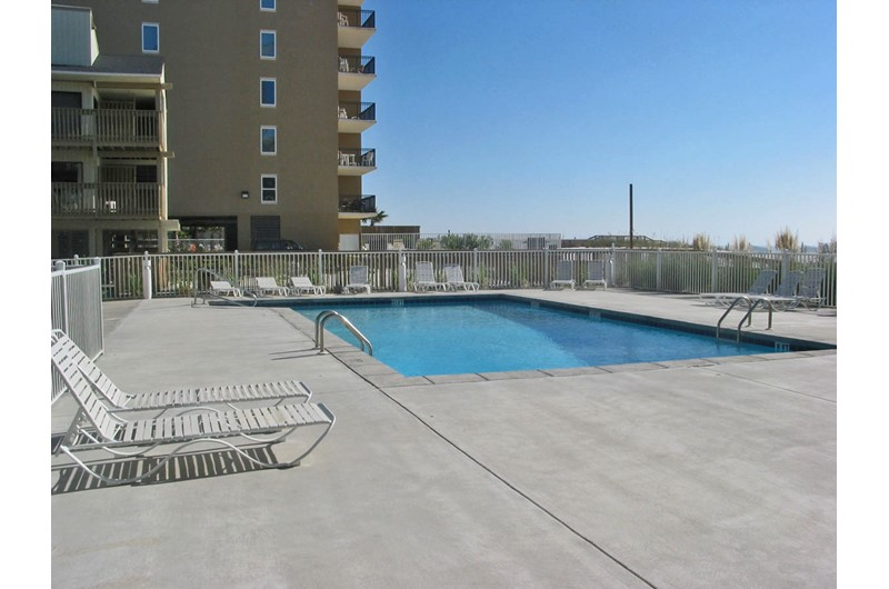 Swimming pool and sundeck at Gulf Village Gulf Shores AL