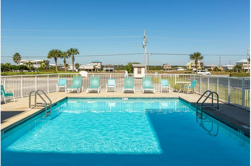 Relax by the pool  at Island Shores in Gulf Shores Alabama