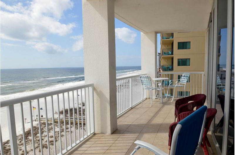 Spacious balcony at Island Tower Gulf Shores