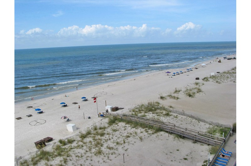 Sweeping view of the beach and Gulf from Island Tower Gulf Shores