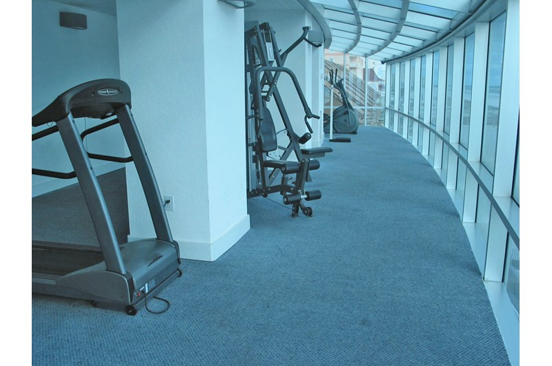 Nice workout facilities at Island Tower Gulf Shores