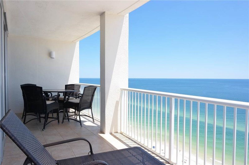 Gorgeous Gulf view from the balcony at Island Tower in Gulf Shores Alabama
