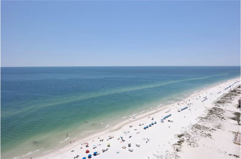 Expansive views of the Gulf from Island Tower in Gulf Shores Alabama