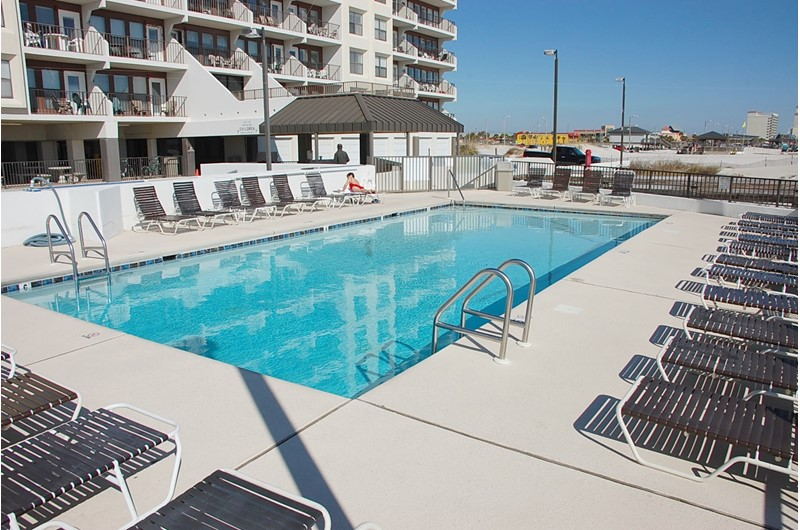 Beachfront pool at Island  Winds East in Gulf Shores AL