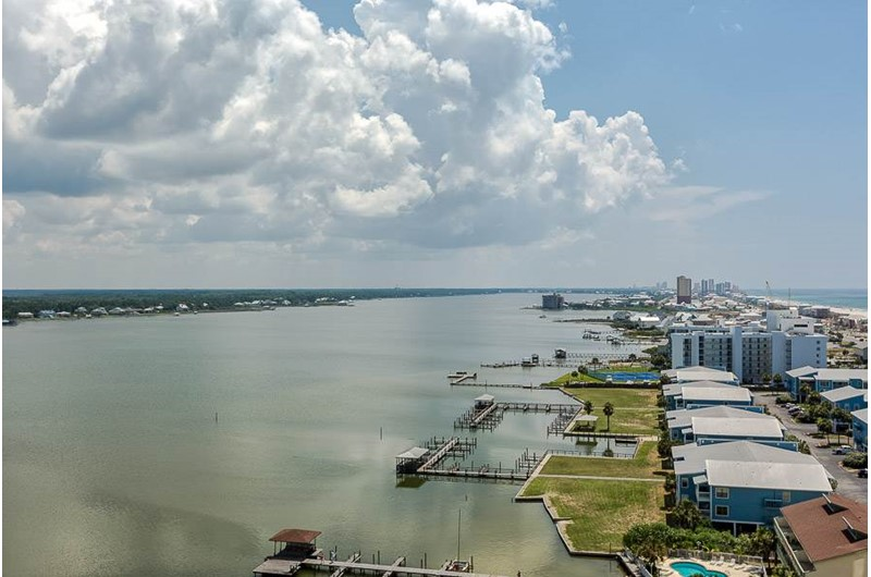 Big view from Lagoon Tower in Gulf Shores Alabama