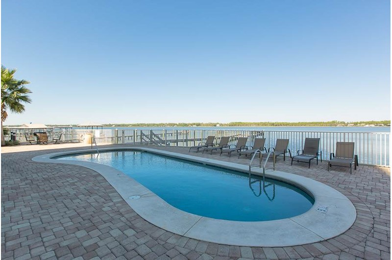 Enjoy the pool at Lagoon Tower in Gulf Shores Alabama