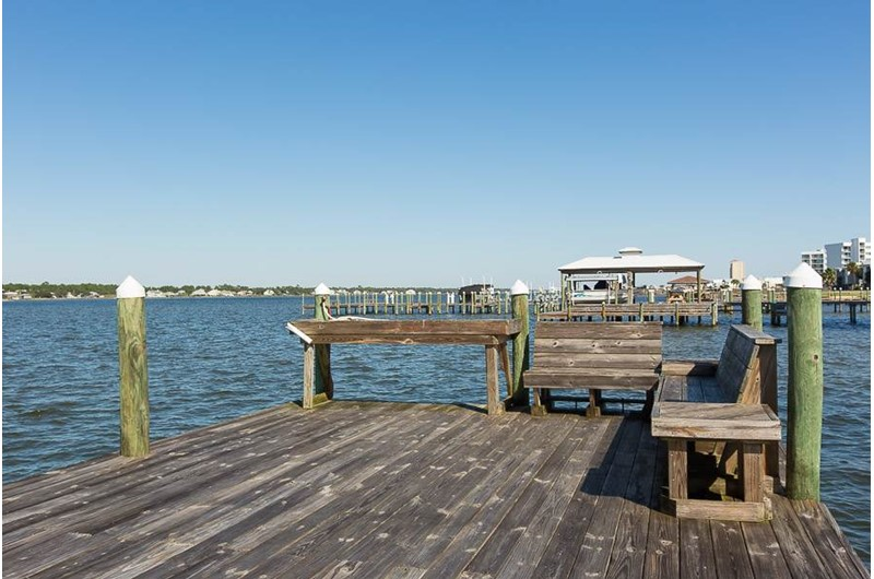 Relax on the pier at Lagoon Tower in Gulf Shores Alabama