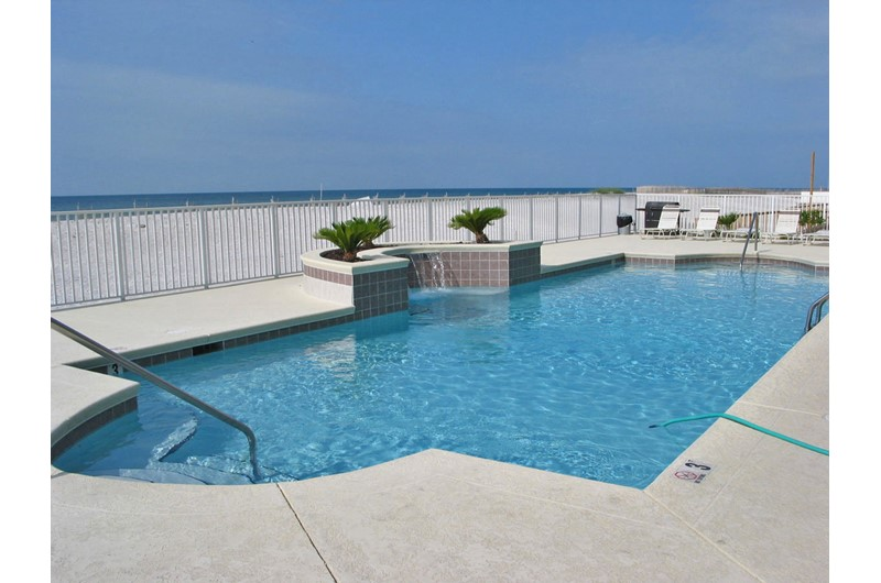 Gulf-front swimming pool at Legacy Gulf Shores