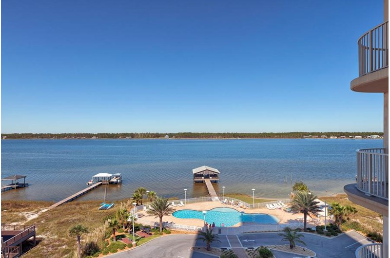 View of bay from Mustique in Gulf Shores Alabama