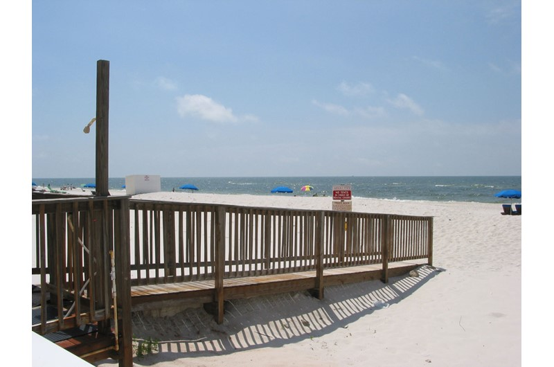 Convenient walkover to the beach from Ocean House Gulf Shores