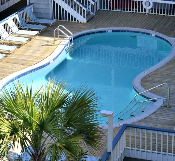 View of pool at Regatta Condominiums in Gulf Shores Alabama