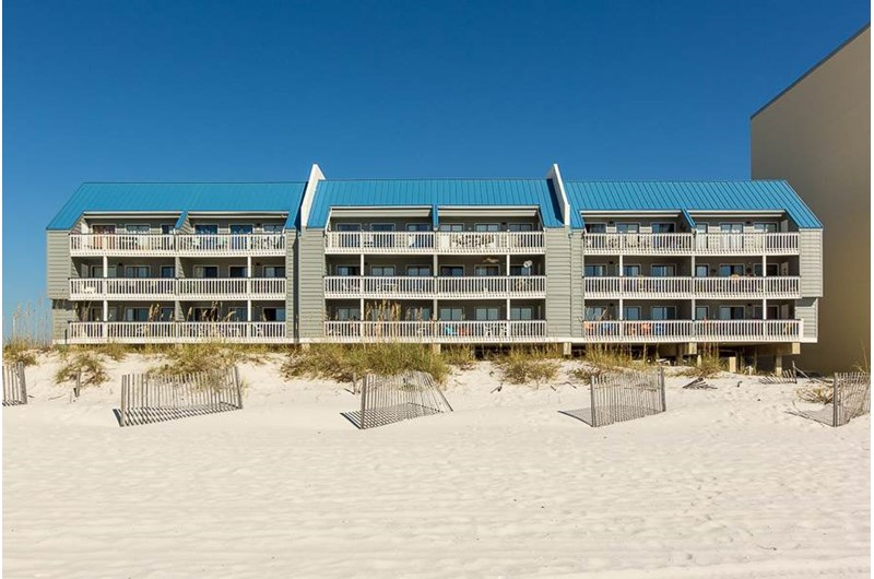 Regatta is directly on the beach in Gulf Shores Alabama
