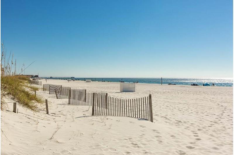 Walk the gorgeous beach in front of Regatta Condos in Gulf Shores Alabama
