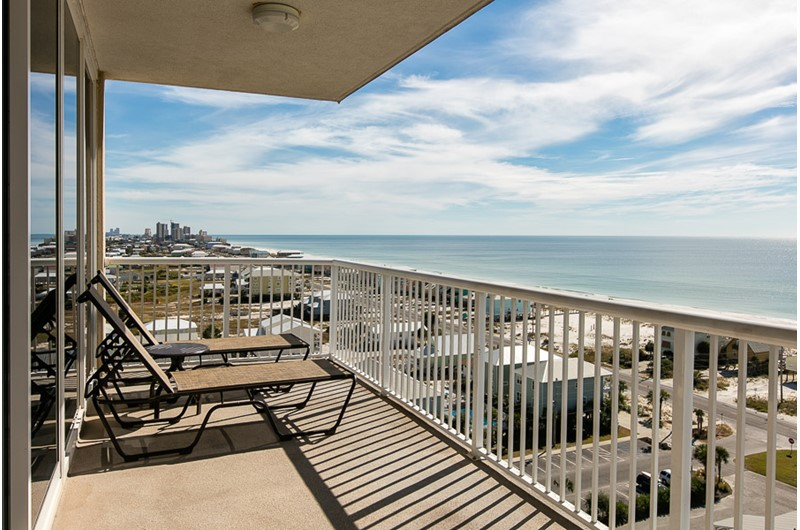 Gorgeous view from the balcony at Sanibel in Gulf Shores Alabama