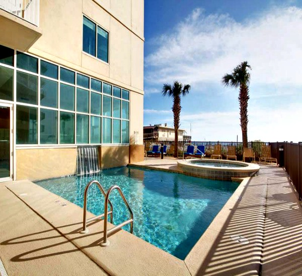 Beachfront pool at Seawind Gulf Shores AL