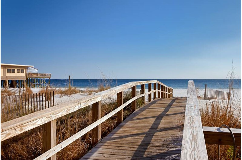 Easy access to the beach from Seawind in Gulf Shores Alabama