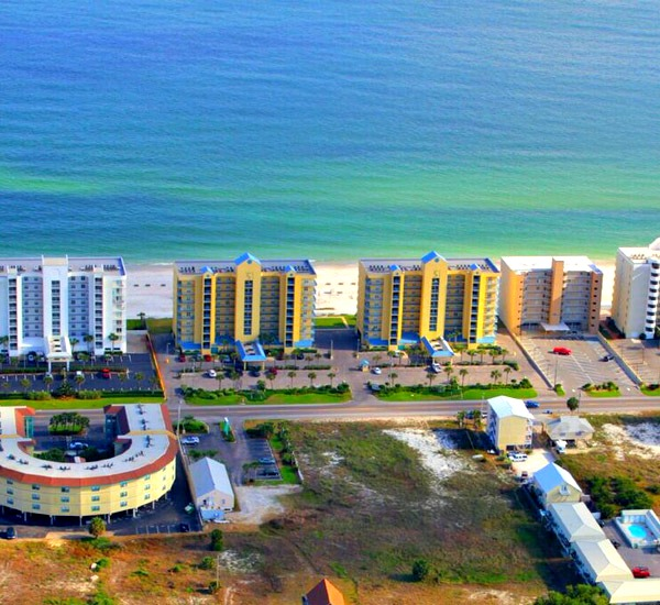 Aerial view of Surfside Shores Gulf Shores