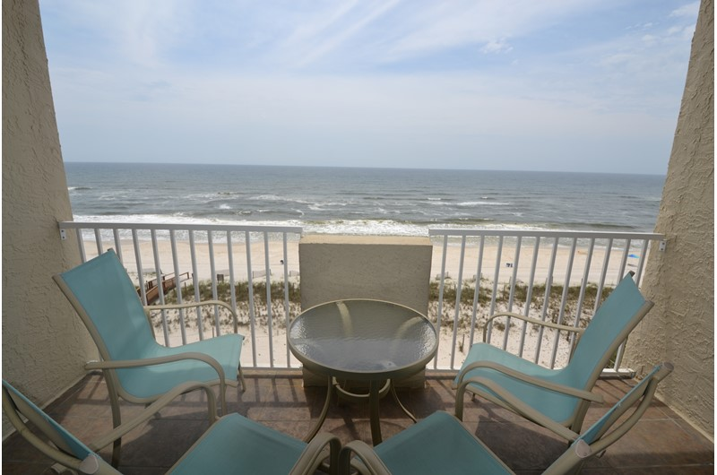 Enjoy a perfect view from your balcony at Tropical Winds Gulf Shores AL.