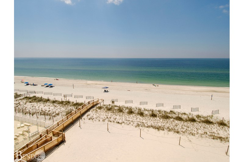 Enjoy sweeping views from your balcony at Tropical Winds Gulf Shores AL.