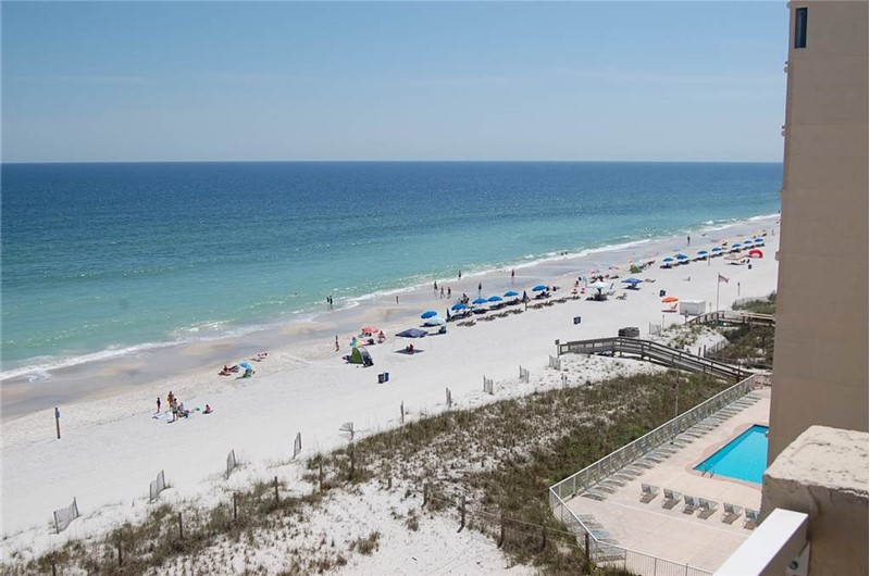 Panoramic view from one of the balconies at Tropical Winds Gulf Shores AL