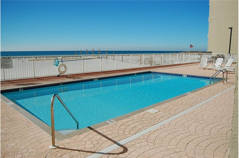 Pool time is a pleasure at Tropical Winds Gulf Shores AL.