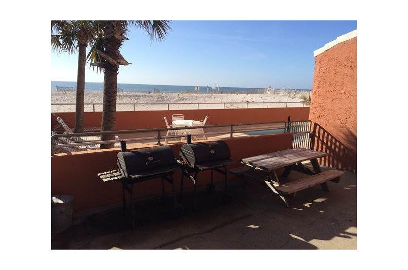 Grilling area at Westwinds in Gulf Shores Alabama